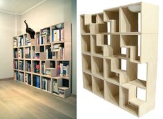 Cat Library by Corentin Dombrecht