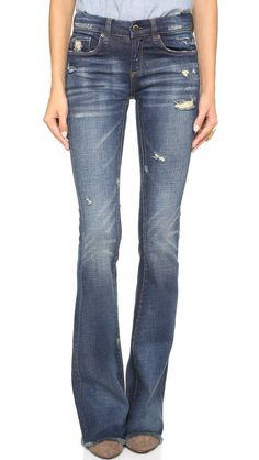 10 Style Tips On How To Wear Flare Jeans, With Awesome Outfit Ideas: Shop the Trend: Blank Denim Distressed Flare Jeans