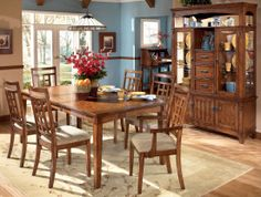 Cross Island Dining Table Set