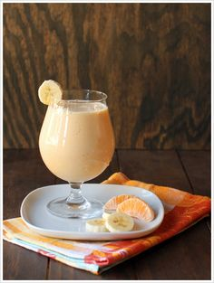 Sounds like a goos smoothie.  Celemntines, banana, ginger, yogurt, agave nectar, ice