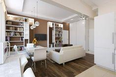 Apartament de 60 mp cu 2 camere în nuanțe de bej-maro - Edifica Loft, House Design, Interior Design, Modern, Furniture, Home Decor, Nest Design, Trendy Tree, Decoration Home