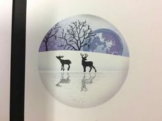 Cardio Cards, Deer Silhouette, Card Io, Stamping Up Cards, Winter Cards, Christmas Themes, Homemade Cards, Making Ideas, Cardmaking