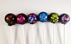 6 Germ Theory Hard Candy Lollipops by LIQNYC on Etsy