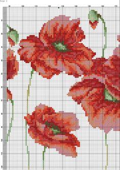 Gallery.ru / Фото #1 - маки - haharina20 Cross Stitch Pillow, Cross Stitch Love, Cross Stitch Flowers, Cross Stitch Designs, Cross Stitch Patterns, Cross Stitching, Cross Stitch Embroidery, Crochet Cross, Embroidery Fabric