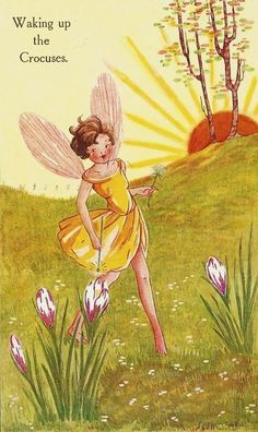 Spring Fairy ~ Waking Up the Crocuses