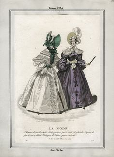 Casey Fashion Plates Detail   Los Angeles Public Library La Mode Date:  Sunday, May 1, 1836