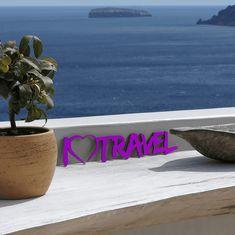 """Das 3D Motiv """"I love to travel"""" – ein ganz individuelles Geschenk für einen besonderen Menschen in Deinem Leben oder einfach ein persönliches Dekorationsobjekt. Wooden Wall Decor, Wooden Walls, Special Person, Decorative Items, Unique Gifts, Colours, Display, 3d, Motivation"""