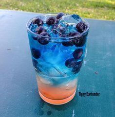BLUE BERRY SEX DRIVE 1 1/2 oz. (45 ml) Blueberry Vodka 1 oz. (30 ml) Dragon Fruit Juice Splash of Black Raspberry Liqueur 1 1/2 oz. (45 ml) Sprite 1/2 oz. (15 ml) Blue Curacao Blueberries