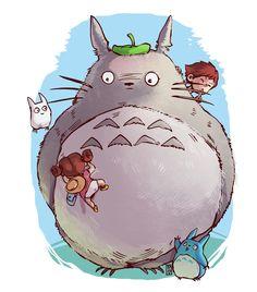 ArtStation - Ghibli Characters, Desar Yuartha Totoro
