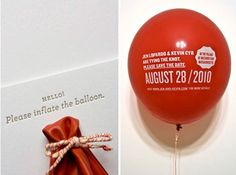 Save the Date Ideas (1): Printed balloons