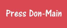 Press Don