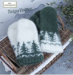 Taiga Votter | Strikkoteket Fingerless Mittens, Knit Mittens, Knitted Hats, Fair Isle Knitting, Knitting Yarn, Baby Knitting, Knitting Designs, Knitting Patterns Free, Knitting Projects