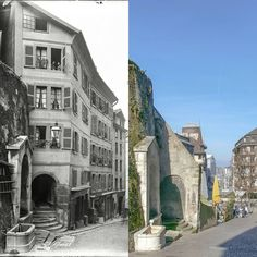 Rue de la Fontaine : le passage du Muret Avant 1900 -> 2017 Ancienne photo : Henri Sylvestre / Bibliothèque de Genève #genève #geneve #geneva #rephotography Henri, Rue, Photos, Street View, Architecture, Instagram Posts, Arquitetura, Architecture Illustrations, Architecture Design