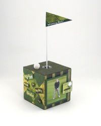 DIY Golf Themed Photo Cube.