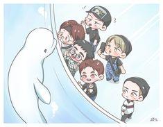 exo travel the world Baekhyun Fanart, Suho Exo, Chanbaek Fanart, Kpop Exo, Kpop Drawings, Cute Drawings, Exo Cartoon, Exo Stickers, Chibi