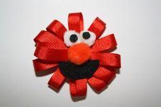 Crafty Momma: Elmo Hair Bow – DIY