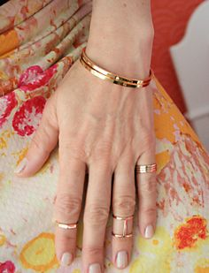knuckle rings // dainty jewelry // gold jewelry // thin rings