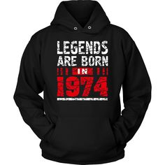 Legends Are born in 1974 Cool 43rd Birthday T Shirt Gift Tee