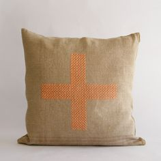 CROSS STITCHED CUSHION COVER