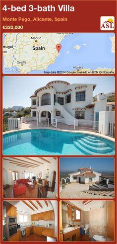 4-bed 3-bath Villa in Monte Pego, Alicante, Spain ►€320,000 #PropertyForSaleInSpain
