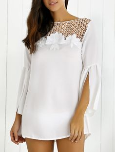 Hollow Out Slit Sleeve Dress