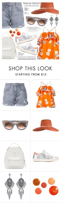 """""""Festival Fashion"""" by jan31 ❤ liked on Polyvore featuring Nobody Denim, MSGM, Thierry Lasry, Eugenia Kim, Versace, D.A.T.E., Accessorize and festivalfashion"""