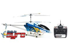 """49"""" FXD 3.5 Ch Gyro Metal Frame RC Heli WithLED Lights! (Smaller Box) (Blue)"""