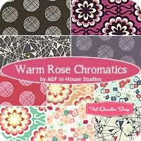 Warm Rose Chromatics Fat Quarter BundleAGF In-House Studios for Art Gallery Fabrics