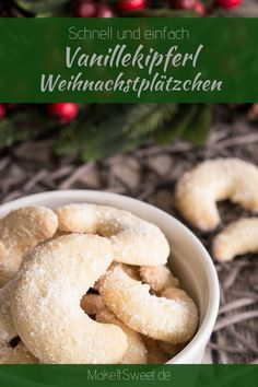 Vanilla biscuit cookie recipe for Christmas. Quick and easy, ideal as a gift # Weihnachtsbäckerei summer recipes summer recipes abendessen rezepte recipes recipes dessert recipes dinner Baking Recipes, Cake Recipes, Dessert Recipes, Kipper Recipes, Rice Krispies, Vanilla Biscuits, Homemade Hot Chocolate, Biscuit Cookies, Base Foods