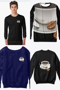 Unisex sweatshirt, coffee lover apparel, click on the link for more colors, styles and designs. Order yours now. ♥