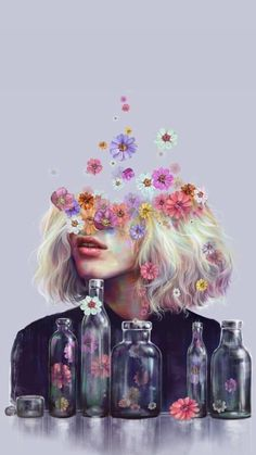 Image uploaded by Mela. Find images and videos about art, flowers and wallpaper on We Heart It - the app to get lost in what you love. Surealism Art, Dibujos Tumblr A Color, Digital Art Girl, Cartoon Art Styles, Art Drawings Sketches, Surreal Art, Anime Art Girl, Portrait Art, Aesthetic Art