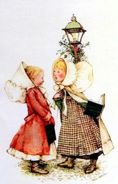 Holly Hobbie by jaclyn Sarah Kay, Holly Hobbie, Christmas Carol, Vintage Christmas, Snoopy Christmas, Mary May, Painted Books, Christmas Illustration, My Childhood Memories