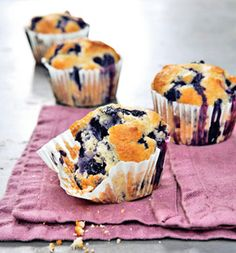 Had to repin!!!! gwyneth paltrow's healthy blueberry muffins