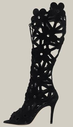 Stretch Up Thing High Boots | Black Velvet [DEL3002/B/VEL ...