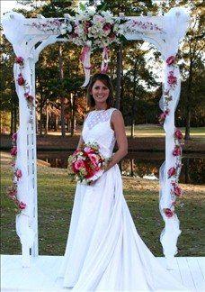 Arbor Chuppah Urns Floral Wreaths and Sprays Wedding Ceremony Photos on WeddingWire
