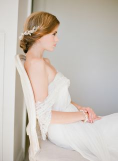 Twisted up do | Percy Handmade Bridal Accessories | Bridal Musings Wedding Blog