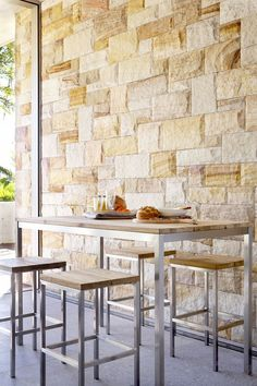 Eco Outdoor Lennox bar table with Lennox bar stools. Outdoor furniture | livelifeoutdoors | Patio furniture | Outdoor dining | Teak outdoor | Outdoor design | Outdoor style | Outdoor luxury | Designer outdoor furniture | Outdoor design inspiration | Pool side furniture | Outdoor ideas | Luxury homes