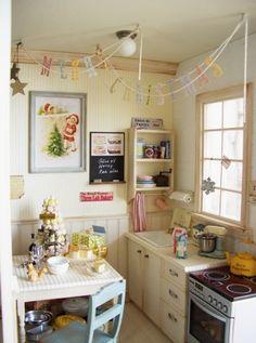 'Christmas Kitchen' miniature room box