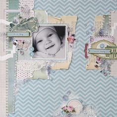 ScrapBerry`s blog. This time it's a gentle children's paper Mother's treasures.