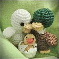 Mini Ducks Ducklings Chick Family Amigurumi Free E-Book Crazy Patterns, Mini Amigurumi, Crochet Birds, Yoshi, Free Pattern, Teddy Bear, Dolls, Animals, Book