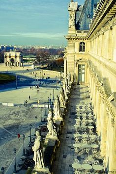 View from the Louvre, Paris, France...