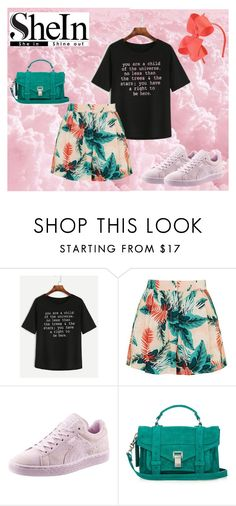 """In una dolce, nuvola rosa"" by getttt ❤ liked on Polyvore featuring WithChic, Topshop, Puma and Proenza Schouler"
