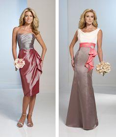 two tone bridesmaid dress
