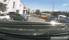 Perfect time to say WTF..... |- Parking Fails Driving Fail Drive Fail Crash Fail Car Fail gif gifs -|