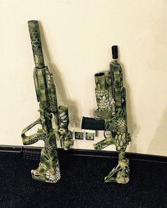 Painted with LANDSCAPE Stencils. To order go to www.landscape-camo.com  #gun #guns #stencil #pattern #m4 #ak47 #rifle #m4a1 #tactical #firearms #kryptek #multicam #dpm #flecktarn #atacs #atac #marpat #tacticalhoney #emp #rifle #partizan #gunsdaily #guncamo #glock #airsoft #assaultrifle #combat #camo #camouflage #pistol #ar15