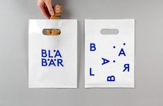 Brand identity and bags by Swedish studio BVD for Blå Bär, an Osaka-based retailer of Scandinavian goods. #branding