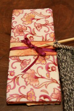 Floral Knitting Needle Case