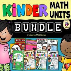 Kindergarten Math Units - This Growing Bundle is a huge collection of kindergarten math resources that are available in my store. There are a few more units that I'm currently working on that will soon be added to this growing bundle. I can't promise a specific date when these units will be completed but know that I will be uploading at least one product a month.These printables are great for individual practice, homework, small groups, whole group discussion, math centers, assessments, and…