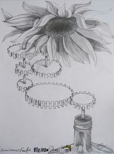 Summertime in a bottle, pencil on paper, apx 18 x 24cm, unframed £10 free UK ship Message @CCKimberley on twitter to buy!