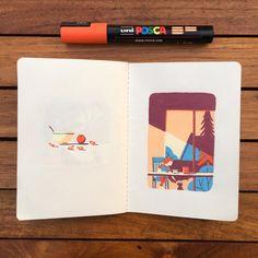 #sketchbook #autumn #lemoustoir #arradon #posca